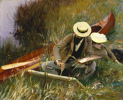 An Out Of Doors Study Poster by John Singer Sargent