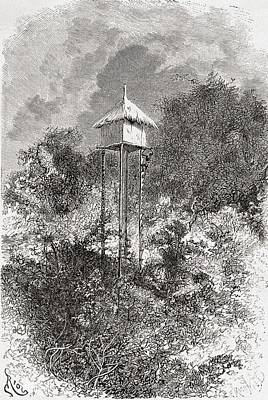 An Usagaran Granary Barn, Usagara Poster by Vintage Design Pics