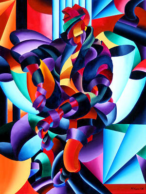 Poster featuring the painting Anamorphosis From The Outside In by Mark Webster
