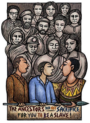 Ancestors Poster by Ricardo Levins Morales