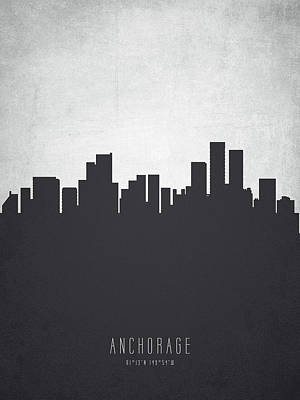 Anchorage Cityscape 19 Poster by Aged Pixel