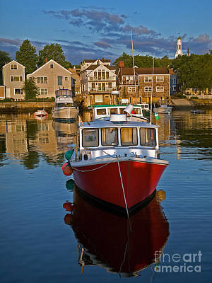 Anchored At Cape Ann Poster