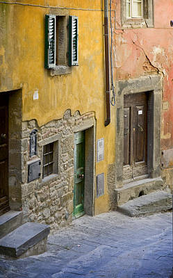 Tuscan Entrance Cortona Poster by Al Hurley