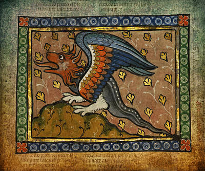 Ancient Celtic Art Dragon Poster by Terry Fleckney