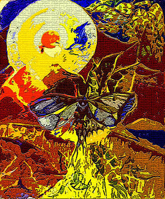 Ancient Dragon Fly  Poster by Mindy Newman