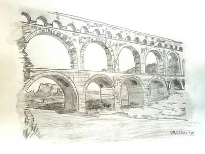 Ancient Roman Aqueducts Poster by Scott D Van Osdol