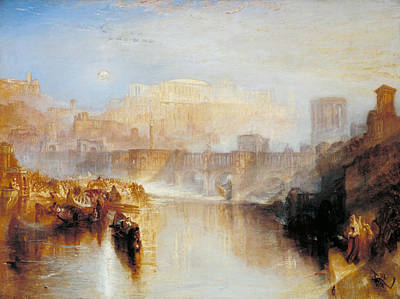 Ancient Rome Agrippina Landing With The Ashes Of Germanicus Poster by Joseph Mallord William Turner