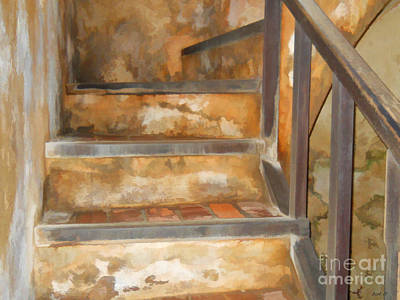 Ancient Stairway Poster by Roberta Byram