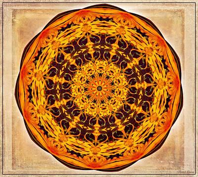 Ancient Sun Kaleidoscope Poster