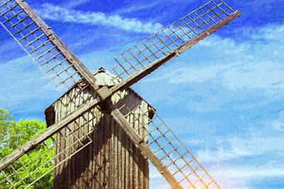 Ancient Windmill Of Wood. Tallinn, Estonia Poster by Alexandr Chernyshov