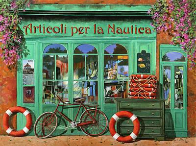 Ancora Una Bicicletta Rossa Poster by Guido Borelli