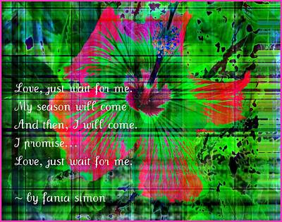 And Then I Will Come Poster by Fania Simon