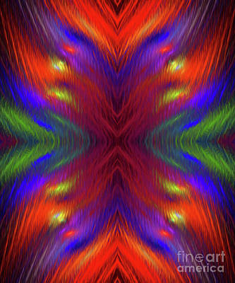 Poster featuring the digital art Andee Design Abstract 1 2015 by Andee Design