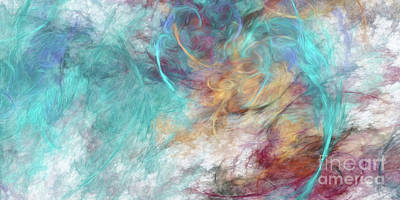 Poster featuring the digital art Andee Design Abstract 4 2015 by Andee Design