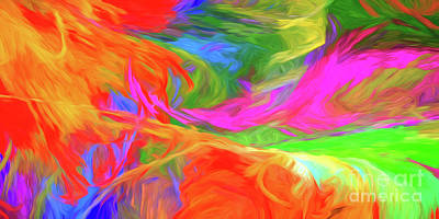 Poster featuring the digital art Andee Design Abstract 5 2015 by Andee Design