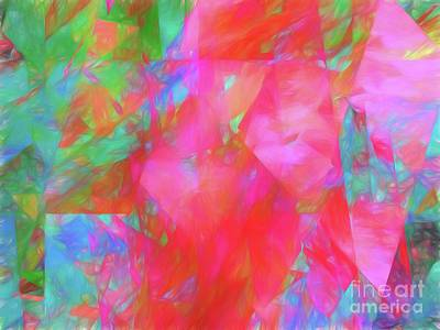 Poster featuring the digital art Andee Design Abstract 92 2017 by Andee Design