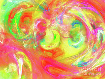 Poster featuring the digital art Andee Design Abstract 95 2017 by Andee Design