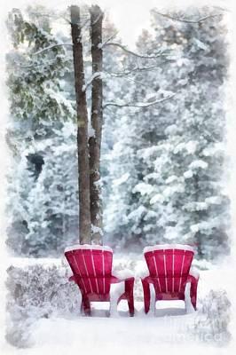 Anderson Pond Eastman Grantham Winter Poster