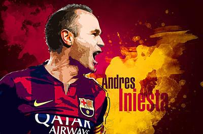 Andres Iniesta Poster by Semih Yurdabak