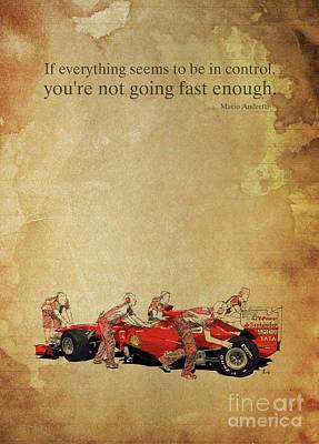 Andretti E Ferrari Poster by Pablo Franchi