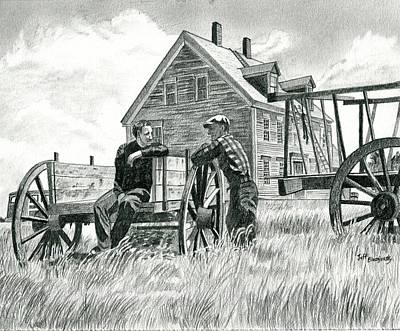 Andrew Wyeth And Alvaro Olson Poster by Jeff Blazejovsky