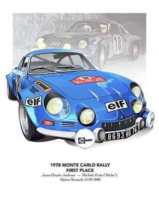 andruet Biche Monte Carlo Poster Poster by Alain Jamar
