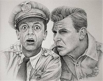 Andy And Barney Poster by Rita Niblock
