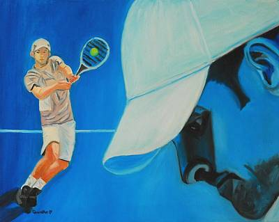 Poster featuring the painting Andy Roddick by Quwatha Valentine