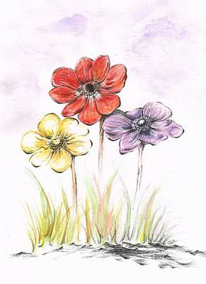 Anemone Flowers Poster by Teresa White