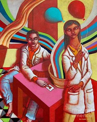 Ang Lihim Na Buslo At Pink Table Poster by Paul Hilario