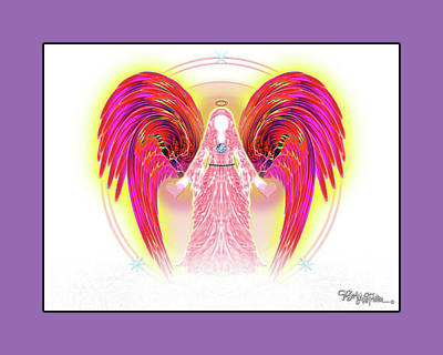 Poster featuring the digital art Angel #199 by Barbara Tristan