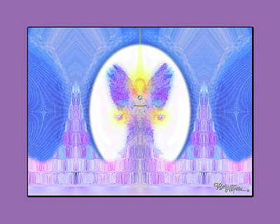 Poster featuring the digital art Angel #200 by Barbara Tristan