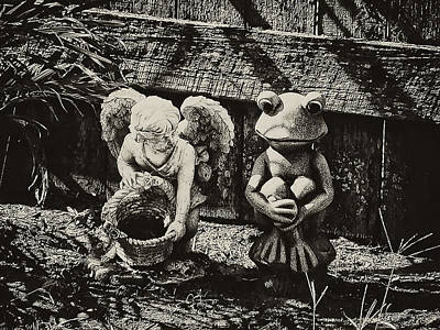 Angel And Frog Poster