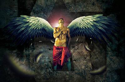 Angel Body Art Poster by Mark Ashkenazi
