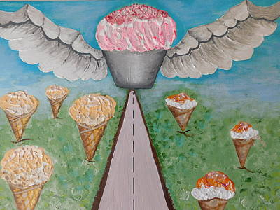 Angel Cake Poster by Susan Wooler