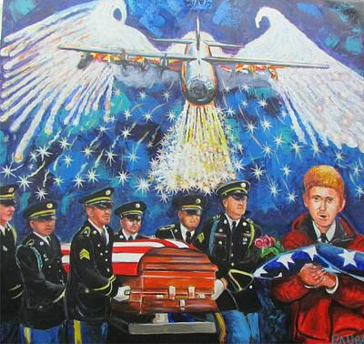 Angel Flight Poster by Ken Pridgeon