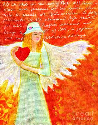 Angel For The Mentally Challenged Poster by Desiree Paquette