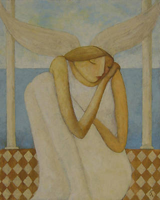 Poster featuring the painting Angel by Glenn Quist