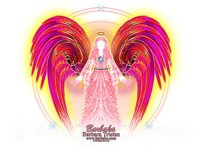 Poster featuring the digital art Angel Intentions Divine Timing by Barbara Tristan