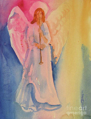 Angel Light Poster by Linda Rupard