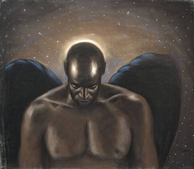 Angel Noir Poster by L Cooper