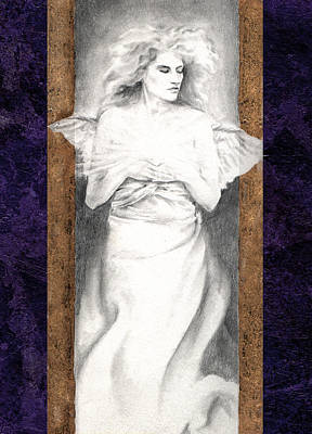 Poster featuring the painting Angel Of Light by Ragen Mendenhall