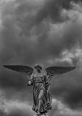 Angel Statue Bethesda Fountain Central Park 2 Poster by Robert Ullmann