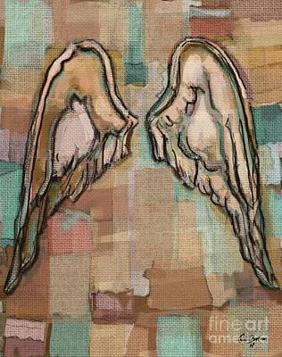 Angel Wings Poster by Carrie Joy Byrnes