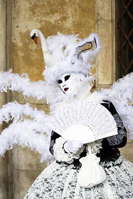 Angel With Swan Detail 2015 Carnevale Di Venezia Italia Poster