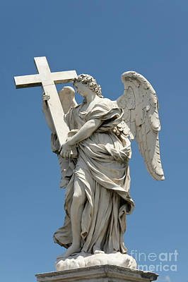 Angel With The Cross Poster by Fabrizio Ruggeri