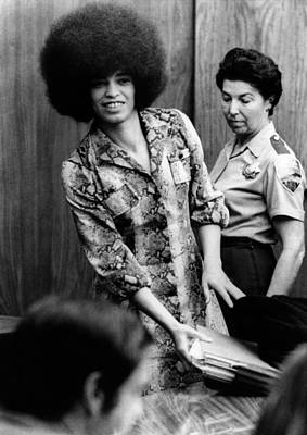 Angela Davis In Courtroom. She Poster by Everett