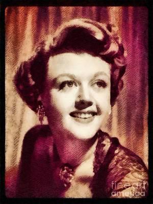 Angela Lansbury, Hollywood Legend By John Springfield Poster