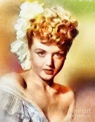 Angela Lansbury, Vintage Hollywood Actress Poster
