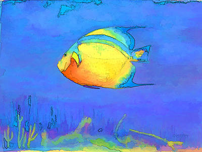 Angelfish Poster by Arline Wagner